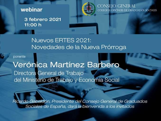Webinar Nuevos ERTES 2021: Novedades de la Nueva Prórroga - 3 de Febrero de 2021 11:00h